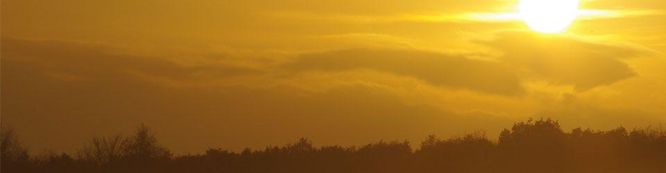 Zonsondergang in Overijsel